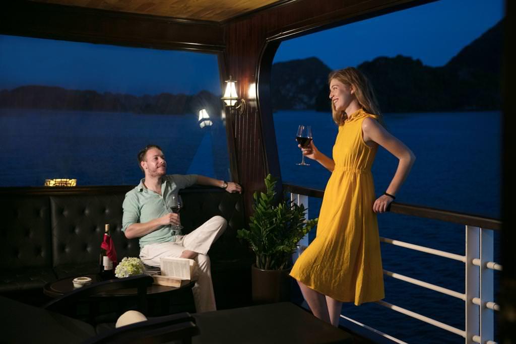 thư giãn trên du thuyền perla dawn