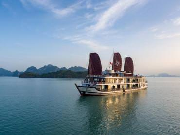 DU THUYỀN AZALEA : du thuyền 5* thăm Vịnh Lan Hạ + chèo kayak + xe di chuyển luxury