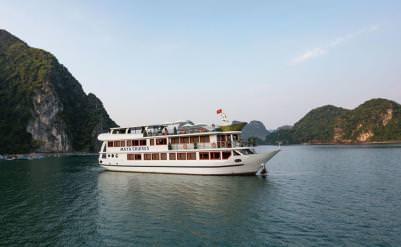 DU THUYỀN MAYA : du thuyền 4* thăm Vịnh Lan Hạ - Hang Sáng + Hang Tối