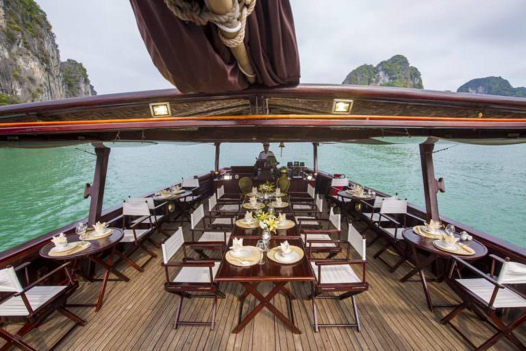 Sundeck của du thuyền Nàng Tiên