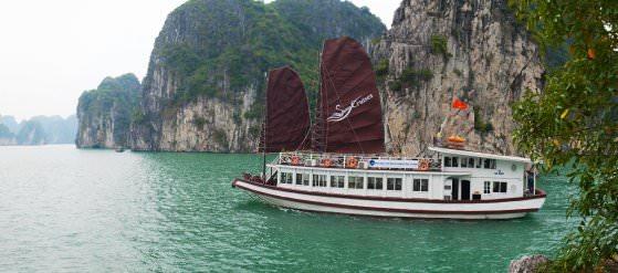 DU THUYỀN SWAN 1 NGÀY ( Thăm Bái Tử Long - Làng Chài Vung Vieng - Thiên Cảnh Sơn )