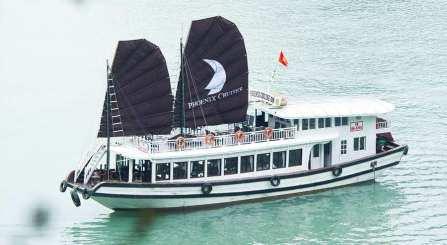 DU THUYỀN PHOENIX 1 NGÀY : Tour du lịch hạ long 1 ngày  + Chèo thuyền Kayak + Xe đưa đón