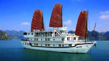 DU THUYỀN STELLAR | Tour du thuyền 4* Hạ Long 2N/1Đ +  Miễn phí xe đưa đón