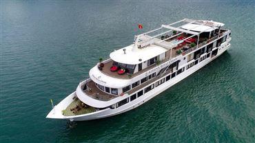 DU THUYỀN ATHENA ROYAL : Du thuyền 5 sao 2N/1D + Các bữa ăn trên du thuyền