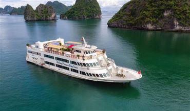 DU THUYỀN CÔNG CHÚA | Tour du thuyền 5* trong ngày. Ăn trưa buffet cao cấp