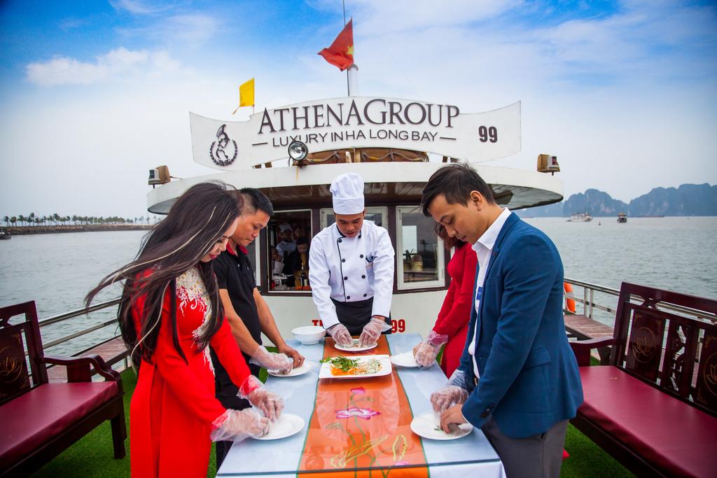 học nấu ăn cùng du thuyền Athena 1 ngày