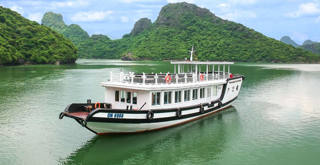 du thuyền Paradise 1 ngày a