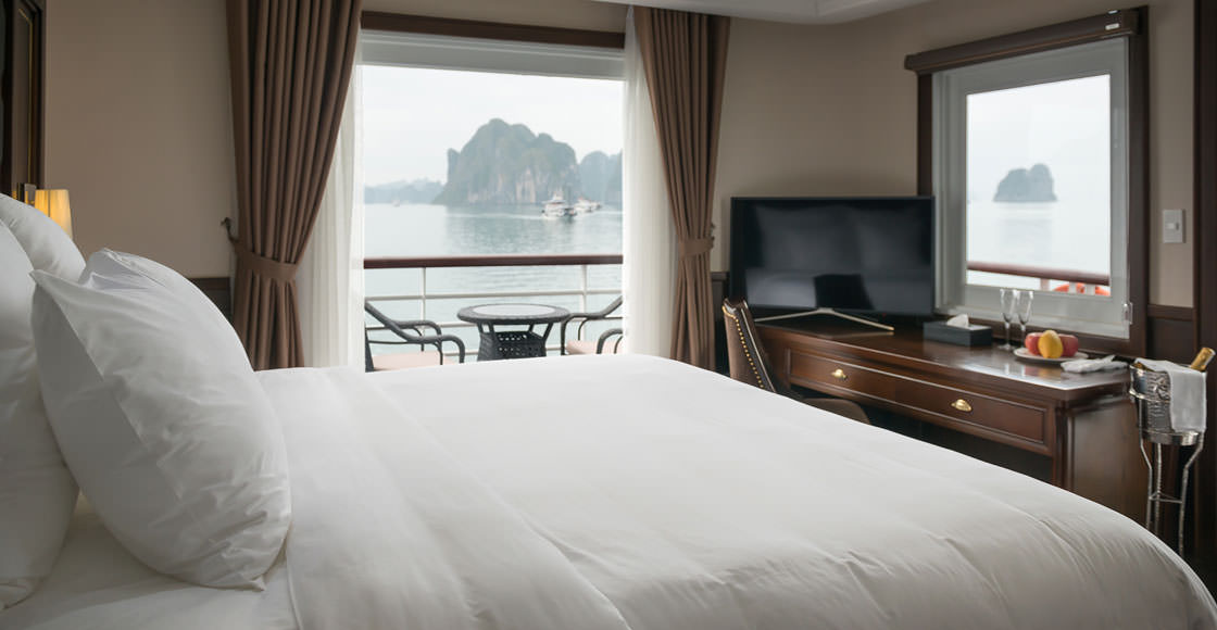 phòng ngủ của du thuyền paradise elegance