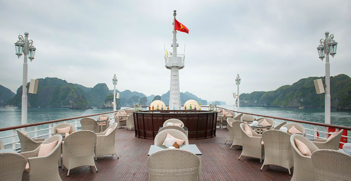 Sundeck của du thuyền paradise elegance